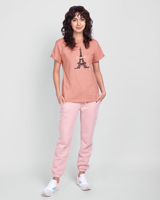 Shop Bonjour Paris Boyfriend T-Shirts-Full
