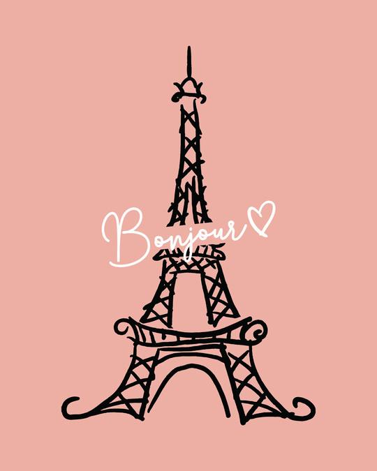 Shop Bonjour Paris Boyfriend T-Shirts