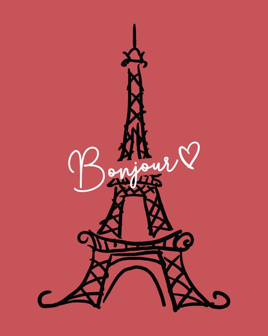 Shop Bonjour Paris Cap Sleeve T-Shirt Dress-Full