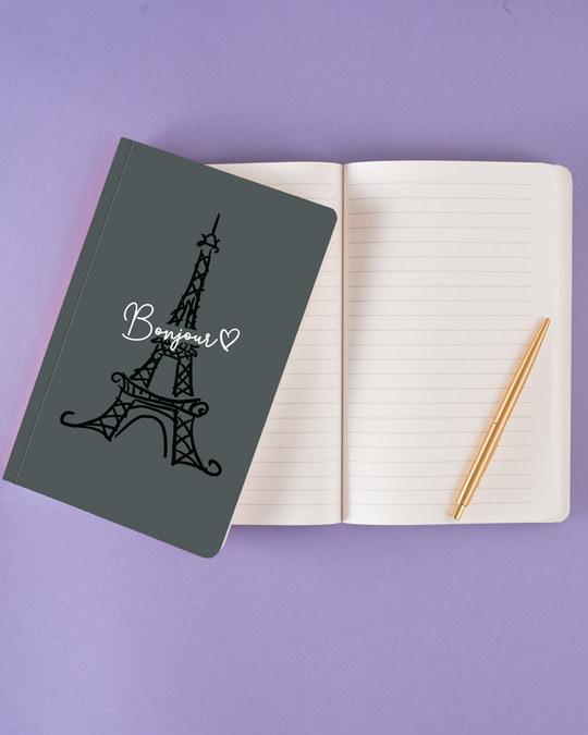 Shop Bonjour Paris Notebook-Back