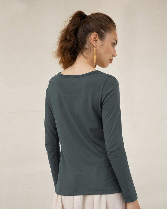 Shop Bonjour Paris Scoop Neck Full Sleeve T-Shirt-Back