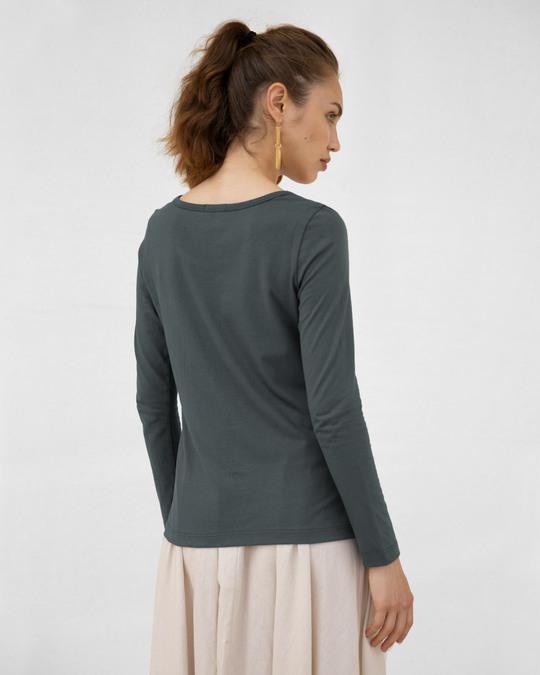 Shop Bonjour Paris Scoop Neck Full Sleeve T-Shirt-Back