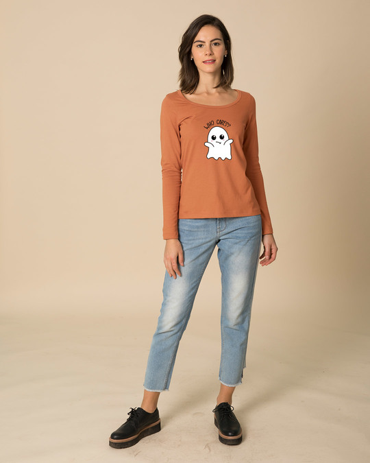 Shop Boo Cares Scoop Neck Full Sleeve T-Shirt-Design