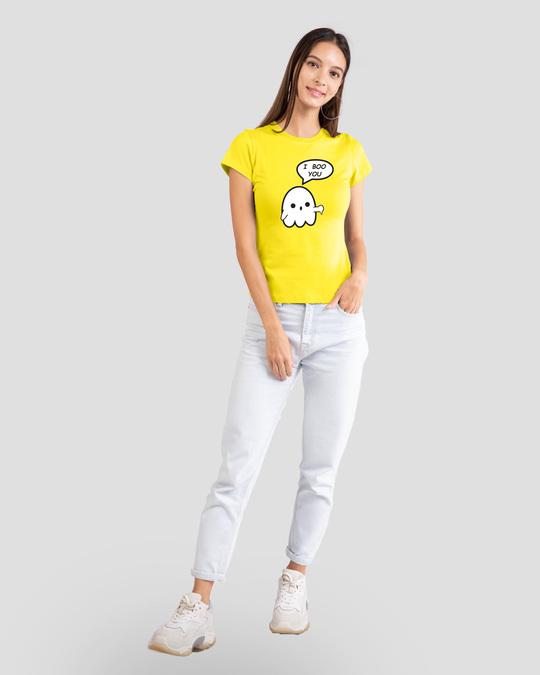 Shop Boo You Half Sleeve Printed T-Shirt Pineapple Yellow-Design