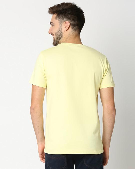 Shop BOOBOO Half Sleeve T-Shirt Vax Yellow-Front