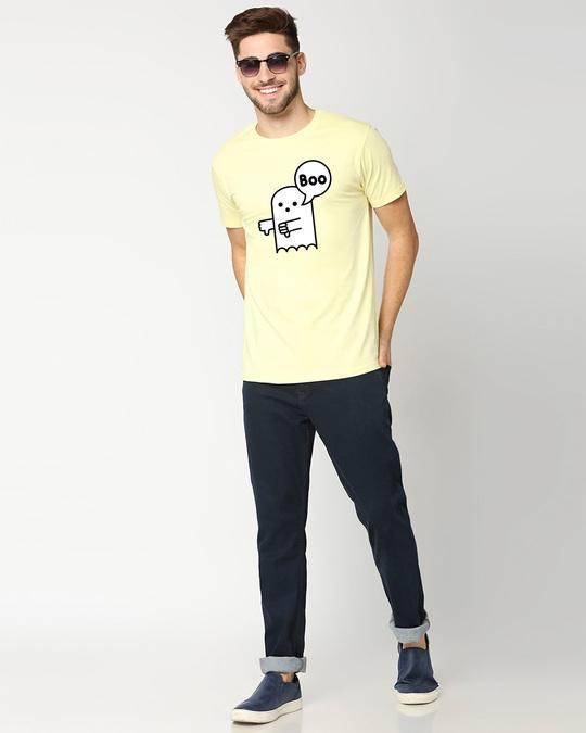 Shop BOOBOO Half Sleeve T-Shirt Vax Yellow-Design
