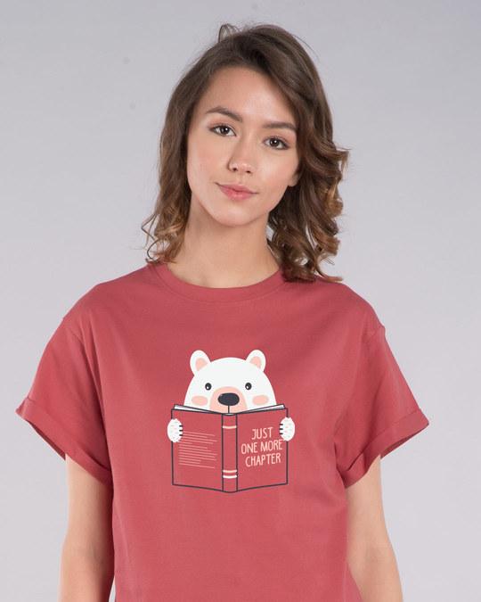 Shop Book Bear Boyfriend T-Shirt-Front