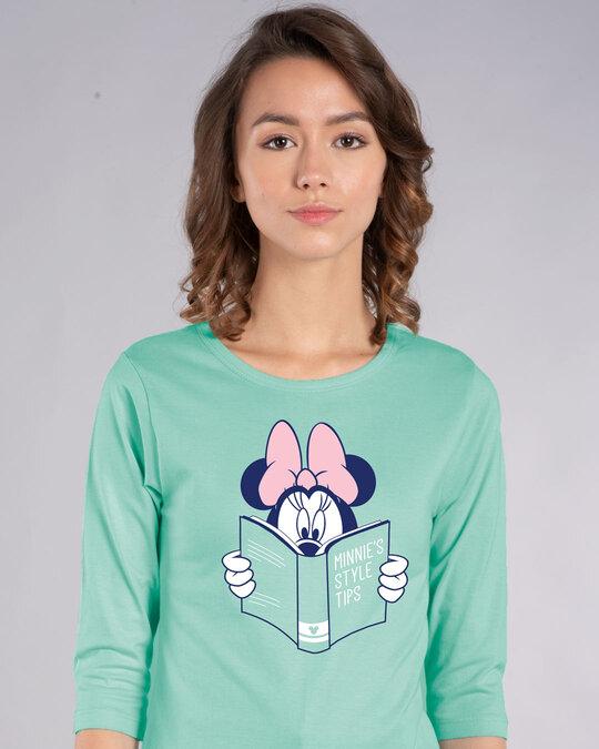 Shop Book Minnie Round Neck 3/4th Sleeve T-Shirt (DL)-Front