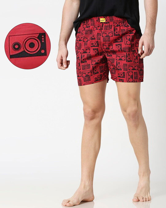 Shop Boomboxes All Over Printed Boxer-Front