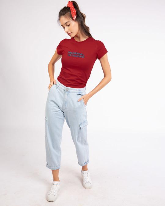 Shop Boring Normal Half Sleeve T-Shirt-Full