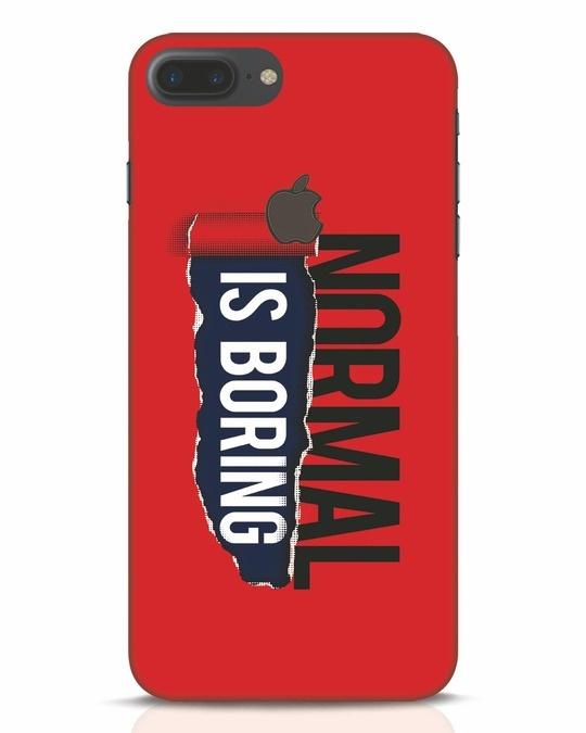 Shop Boring Normal iPhone 7 Plus Logo Cut Mobile Cover-Front