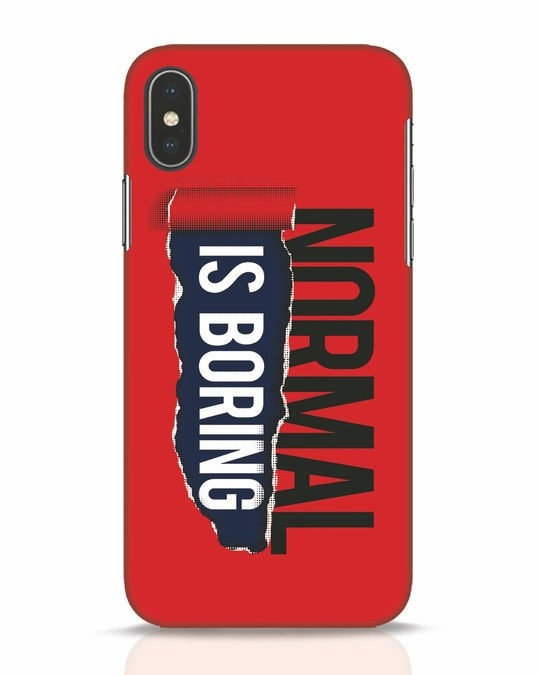 Shop Boring Normal iPhone X Mobile Cover-Front