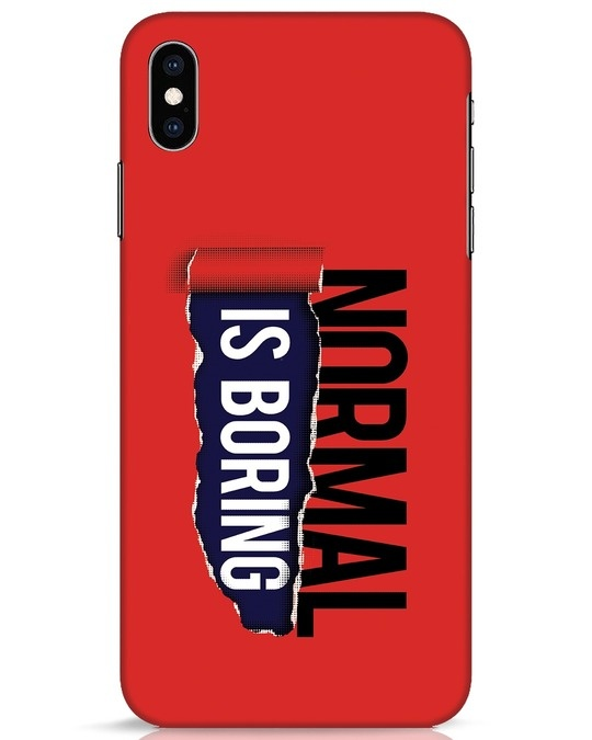 Shop Boring Normal iPhone XS Max Mobile Cover-Front