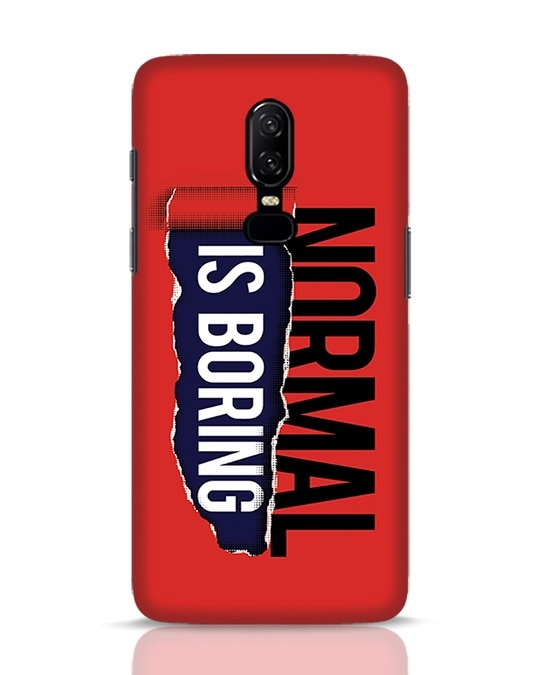 Shop Boring Normal OnePlus 6 Mobile Cover-Front
