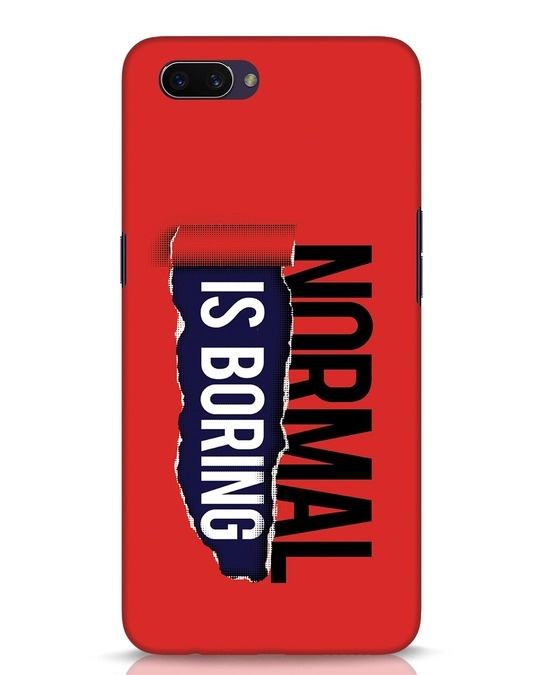 Shop Boring Normal Oppo A3S Mobile Cover-Front