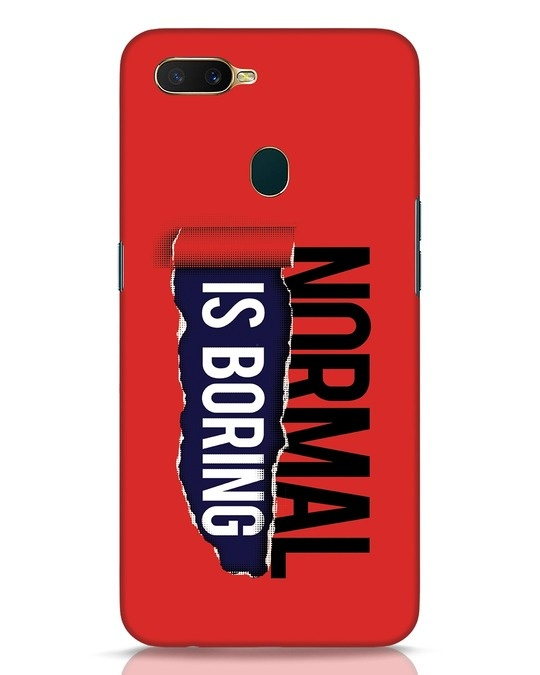 Shop Boring Normal Oppo A7 Mobile Cover-Front