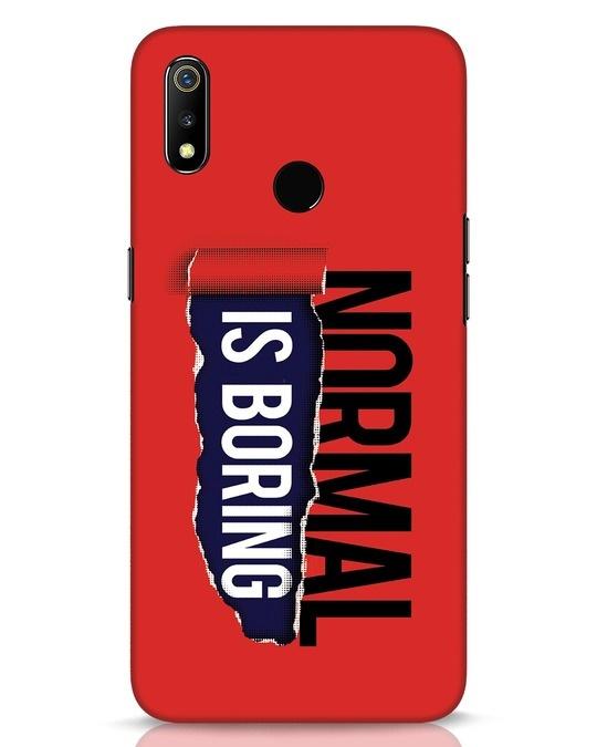 Shop Boring Normal Realme 3 Mobile Cover-Front