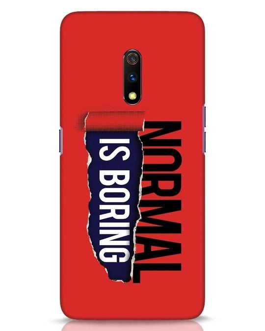 Shop Boring Normal Realme X Mobile Cover-Front