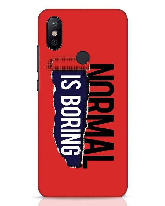 Shop Boring Normal Xiaomi Mi A2 Mobile Cover-Front