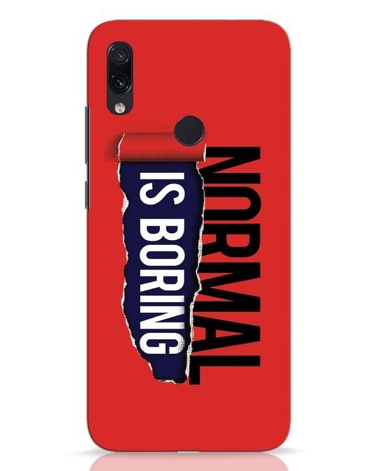 Shop Boring Normal Xiaomi Redmi Note 7 Pro Mobile Cover-Front