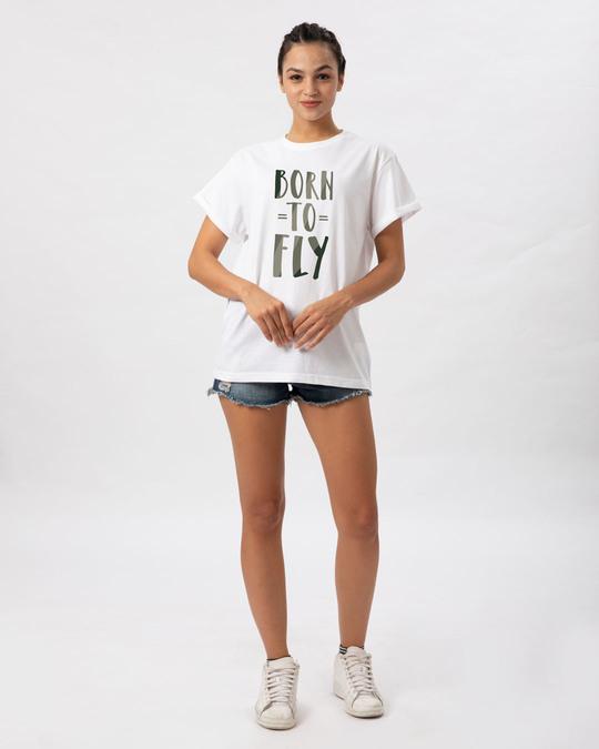 Shop Born To Fly Boyfriend T-Shirt-Full