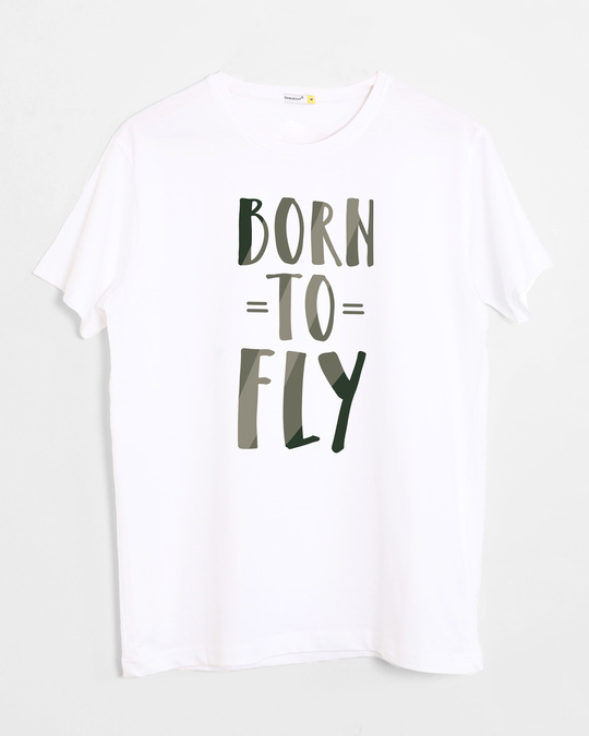 Shop Born To Fly Half Sleeve T-Shirt-Front