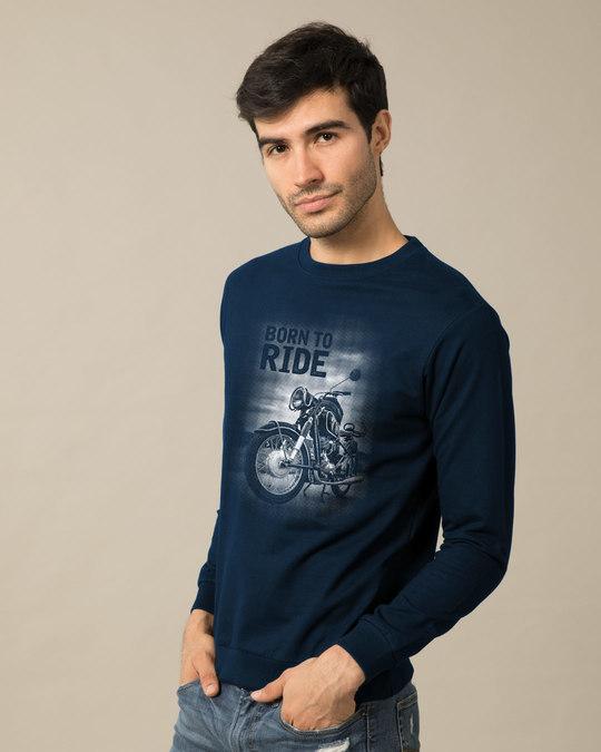 Shop Born To Ride Sweatshirt-Back