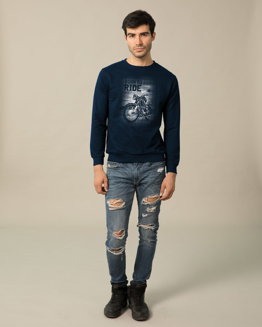 Shop Born To Ride Sweatshirt-Full