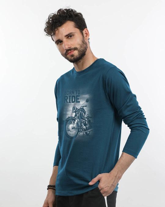 Shop Born To Ride Full Sleeve T-Shirt-Back