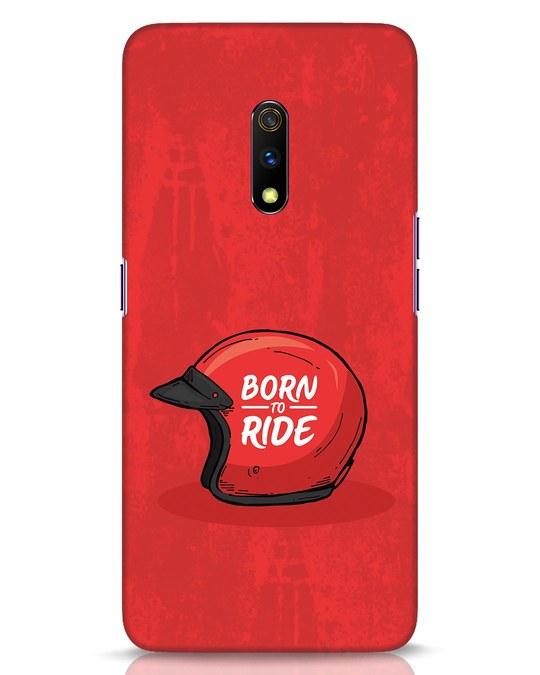 Shop Born To Ride Realme X Mobile Cover-Front