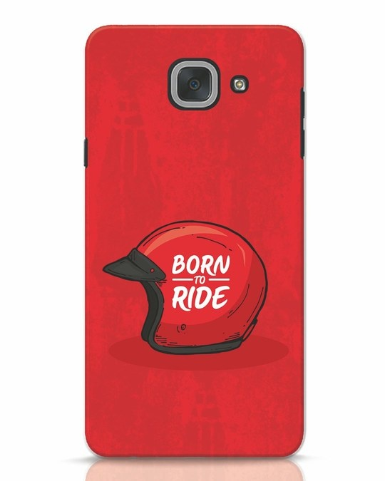 Shop Born To Ride Samsung Galaxy J7 Max Mobile Cover-Front
