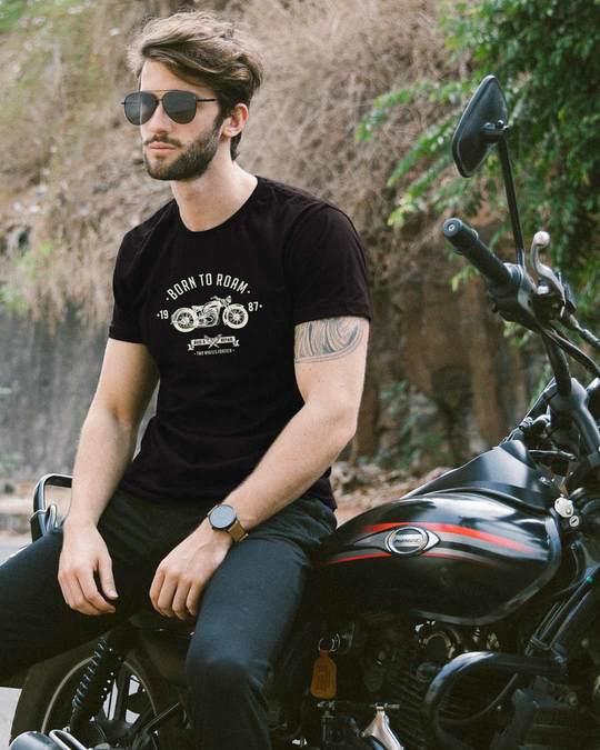 Shop Born To Roam Half Sleeve T-Shirt-Front