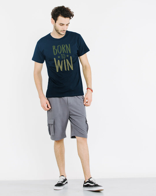 Shop Born To Win Half Sleeve T-Shirt