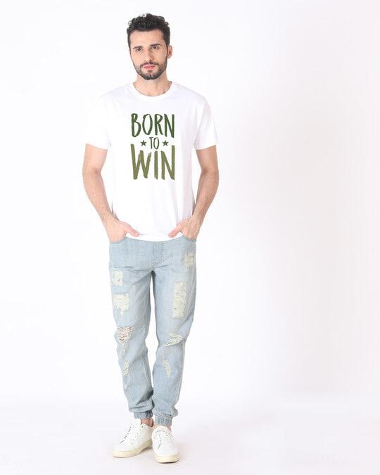 Shop Born To Win Half Sleeve T-Shirt