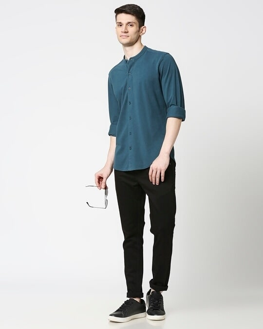 Shop Comfort Pique Knit Bottle Green Shirt