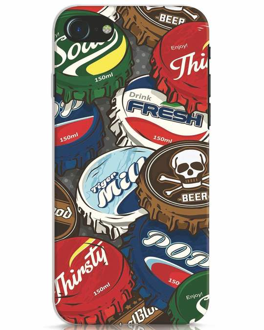 Shop Bottlecaps iPhone 7 Mobile Cover-Front