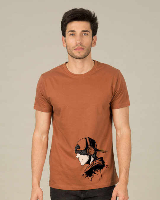 Shop Boy With The Headphones Half Sleeve T-Shirt-Back