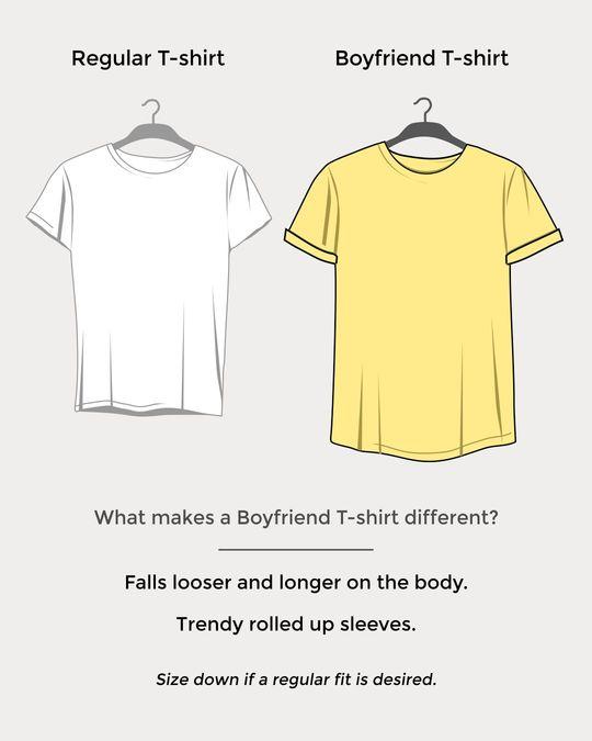 Shop Noshter Gora Boyfriend T-Shirt-Design