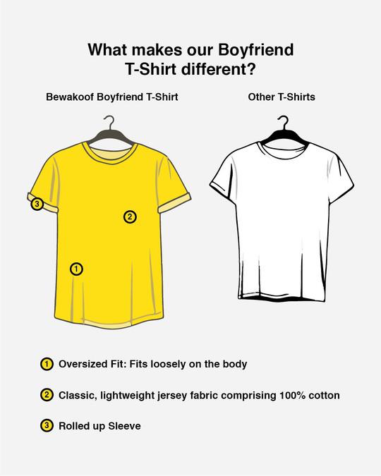 Shop Grey Stripes Side Panel Boyfriend T-Shirt-Design