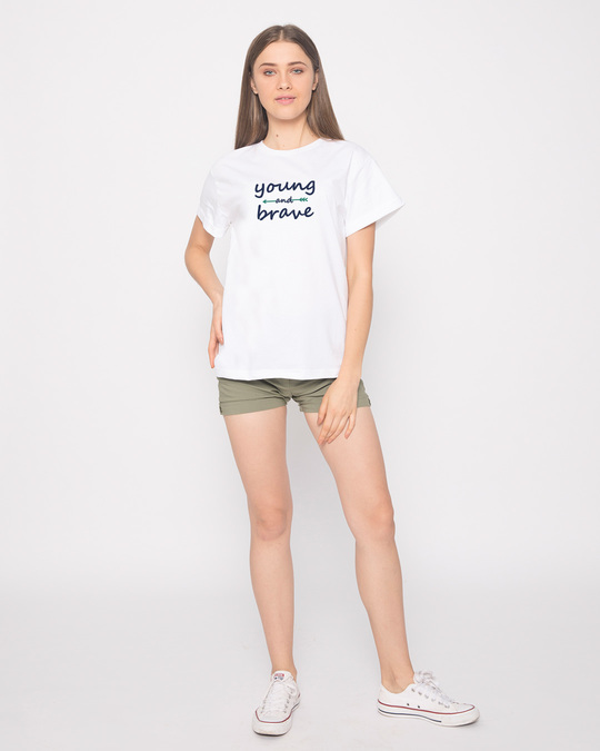 Shop Brave And Young Boyfriend T-Shirt-Full