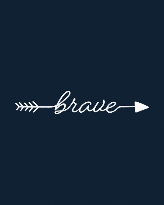 Shop Brave Arrow Basic Round Hem T-Shirt