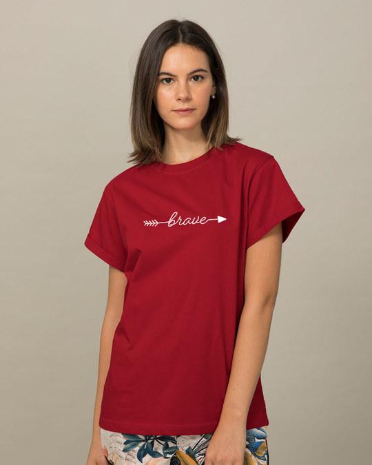 Shop Brave Arrow Boyfriend T-Shirt-Back