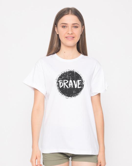 Shop Brave Boyfriend T-Shirt-Back