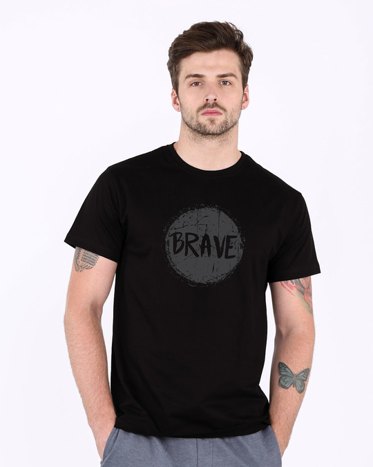 Shop Brave Half Sleeve T-Shirt-Back