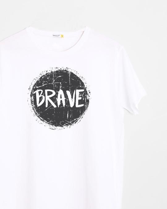 Shop Brave Half Sleeve T-Shirt-Front