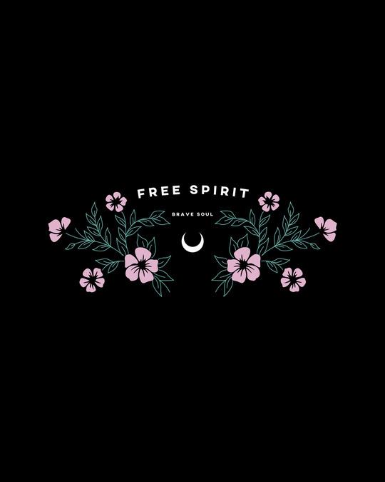 Shop Brave Spirit Boyfriend T-Shirt Black-Full