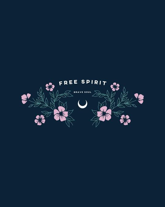 Shop Brave Spirit Boyfriend T-Shirt Navy Blue