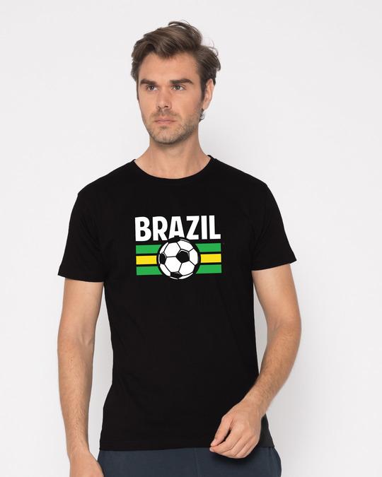 Shop Brazil Half Sleeve T-Shirt-Back