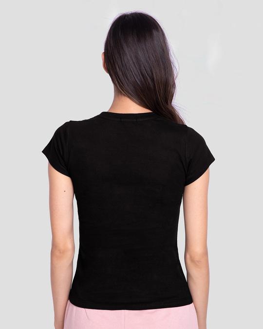Shop Break Code Half Sleeve Printed T-shirt Black-Back