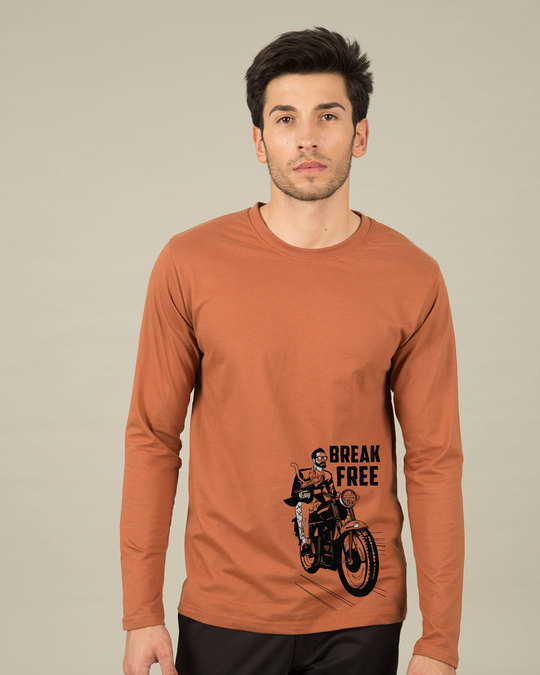 Shop Break Free Motorcycle Full Sleeve T-Shirt-Front